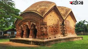 টেরাকোটা কারুকার্যের ঐতিহাসিক 'জোড়বাংলা মন্দির'