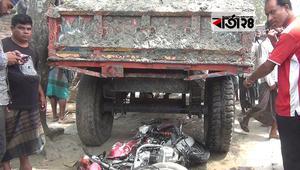 জয়পুরহাটে ট্রাক্টরের ধাক্কায় মোটরসাইকেল আরোহী নিহত