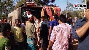 কালীগঞ্জে বাসের ধাক্কায় মোটরসাইকেল আরোহী নিহত