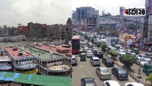 ঢাকায় যানবাহন ও নৌ চলাচল বন্ধ