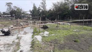 অবাধে বালু উত্তোলন, হুমকিতে সড়ক-সেতু-মসজিদ