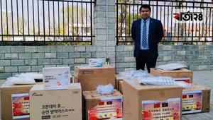 চীন থেকে সুরক্ষা পোশাক পাঠাচ্ছেন বাংলাদেশি চিকিৎসক