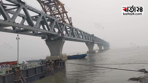 Now 5.70 km of Padma Bridge is visible