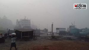 Dense fog stops ferry movement, 6 ferries stuck