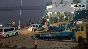 বাংলাবাজার-শিমুলিয়ায় ৩ ঘণ্টা পর ফেরি চলাচল শুরু
