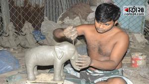 শারদীয় দুর্গাপূজা উদযাপনের প্রস্তুতি এগিয়ে চলছে