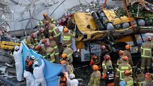 Nine killed after bus crushed in South Korea