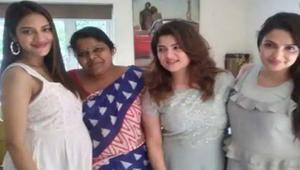 Actress Nusrat flaunts her baby bump