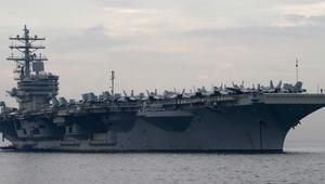 US Navy aircraft carrier enters South China Sea