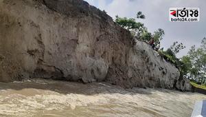 গাইবান্ধায় ভাঙছে নদী, কাঁদছে মানুষ