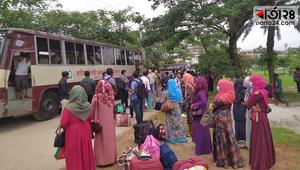 লকডাউনে শিক্ষার্থীদের বাড়ি পৌঁছে দিল জাককানইবি'রবাস