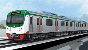 Metrorail's first train on way to country