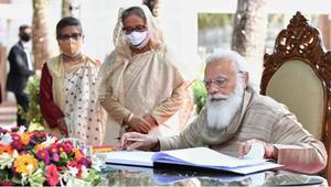 Modi payes tribute Bangabandhu