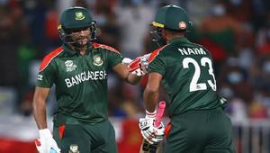 Naim, Shakib help Bangladesh to 153 runs