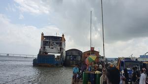 শিমুলিয়া-বাংলাবাজার নৌপথে ফেরি চলাচল শুরু