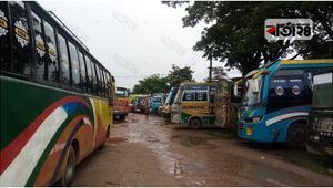 সুনামগঞ্জে চলছে বাস ধর্মঘট