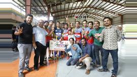 ঢাকা রিপোর্টার্স ইউনিটি (ডিআরইউ) মিডিয়া কাপ ফুটবলে টানা দ্বিতীয় জয় বার্তাটোয়েন্টিফোর.কমের। ছবি : সুমন শেখ