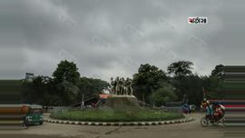 শনিবার ভোর থেকেই রাজধানীর আকাশে মেঘের দেখা। ছবি : সুমন শেখ