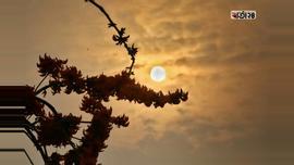 পূব আকাশে সূর্যের আগমন। ছবিটি রাজধানীর হাতিরঝিল থেকে তোলা। ছবি : সুমন শেখ / বার্তা২৪.কম