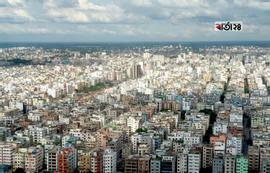 ঘণবসতিপূর্ণ রাজধানী ঢাকার চিত্র। ছবি : শাহরিয়ার তামিম