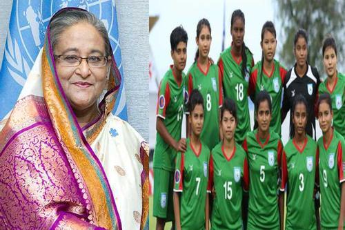 পাকিস্তানকে হারানো কিশোরী ফুটবল দলকে প্রধানমন্ত্রীর অভিনন্দন