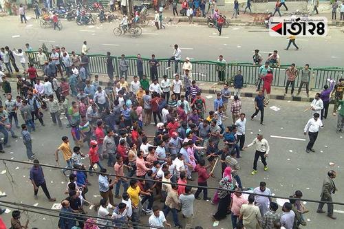 বিএনপি নেতাকর্মীদের দখলে নয়াপল্টন