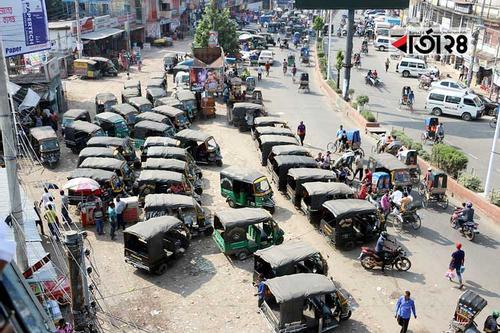 মাহিন্দ্রা-ইজিবাইক-অটোরিকশায় দখল রাজপথ