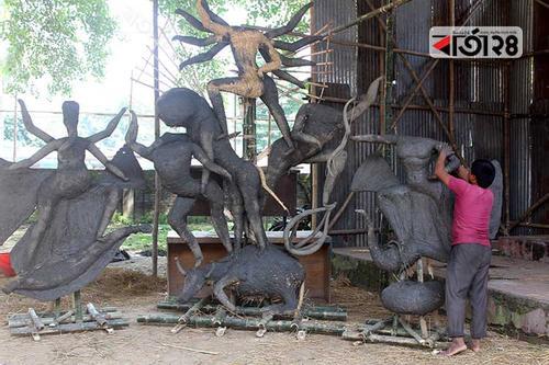 ঠাকুরগাঁওয়ে চলছে দুর্গাপূজার প্রস্তুতি