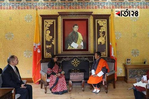 সায়মা হোসেনের সঙ্গে ভুটানের প্রধানমন্ত্রীর বৈঠক