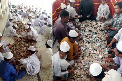 পাগলা মসজিদের দানবাক্সে মিলল ১ কোটি ৮ লাখ টাকা