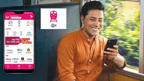 Customers can buy train tickets through bKash app