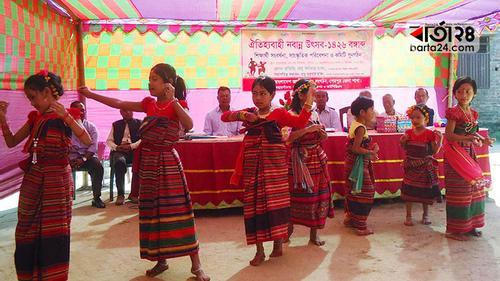 শেরপুরে হাজং সম্প্রদায়ের 'নবান্ন উৎসব'