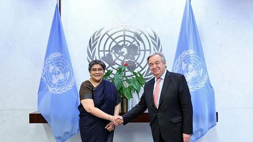 Rabab Fatima presents credentials to UN Secretary General