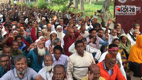 রাজশাহীতে আজও চলছে পাটকল শ্রমিকদের অনশন