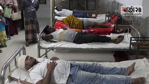 ঝালকাঠিতে দু'গ্রুপের সংঘর্ষ, গুলিবিদ্ধসহ আহত ২১