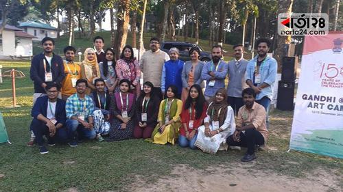 মহাত্মা গান্ধী স্মরণে শ্রীমঙ্গলে আর্ট ক্যাম্প