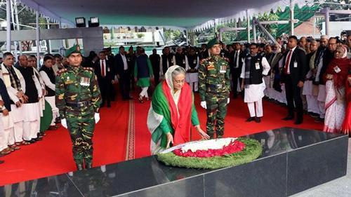 Prime Minister's homage to Bangabandhu
