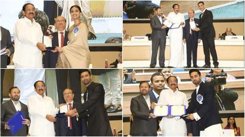 জাতীয় চলচ্চিত্র পুরস্কার গ্রহণ করলেন আয়ুষ্মান-ভিকি-কৃতি