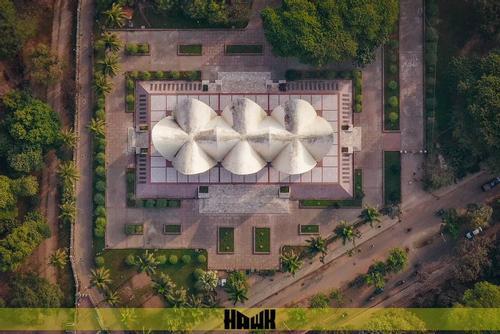 পাখির চোখে ভিন্নমাত্রায় দৃষ্টিনন্দন ঢাকা বিশ্ববিদ্যালয়