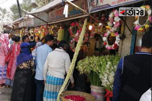 ভালোবাসা দিবসে বগুড়ায় অর্ধকোটি টাকার ফুল কেনা-বেচা