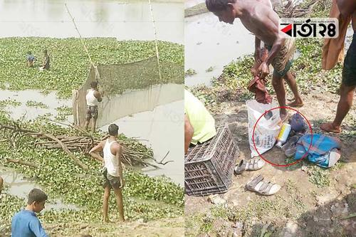 নদীতে বিষ ঢেলে অবাধে মাছ শিকার