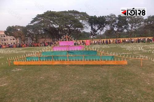 লাখো মঙ্গল প্রদীপ প্রজ্বলন বৃহস্পতিবার, প্রস্তুত মাঠ