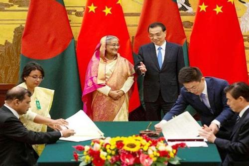 Nine agreements were signed between Dhaka andBeijing