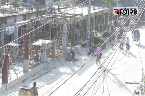 বিধি লঙ্ঘন করে নীলফামারী পৌরসভার বাণিজ্যিক ভবন নির্মাণ