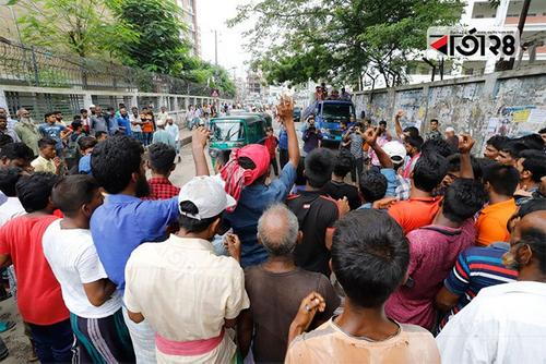 Rickshaw pullers block Dhaka streets protesting ban