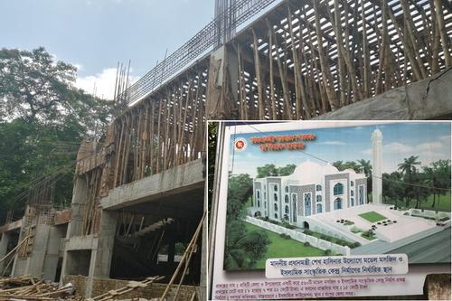 রংপুরে দ্রুত গতিতে চলছে মডেল মসজিদ নির্মাণ কাজ