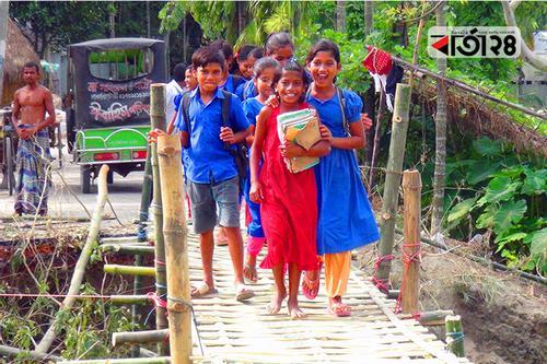 ব্যর্থ এলজিইডি, সাঁকো নির্মাণ করলেন গ্রামবাসী