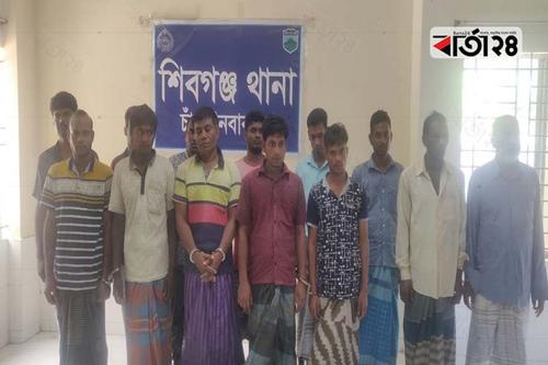 চাঁপাইনবাবগঞ্জে মাদকসহ ৫০জন আটক