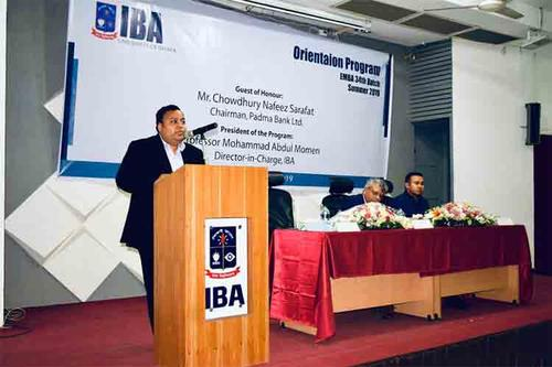 Nafeez Sarafat graced  the IBA- EMBA Orientation as the Chief Guest