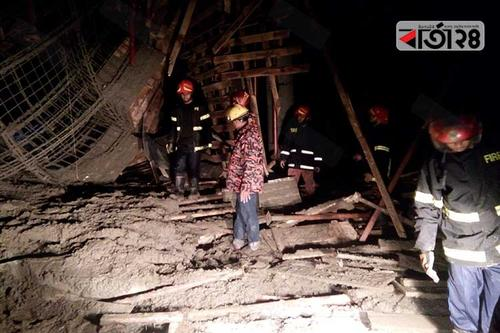 মাভাবিপ্রবির  নির্মাণাধীন ছাদ ধসে ১৮ শ্রমিক আহত